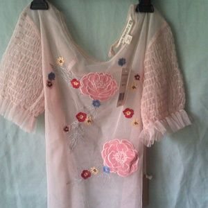Womans see through blouse by Hippie Laundry, sz M